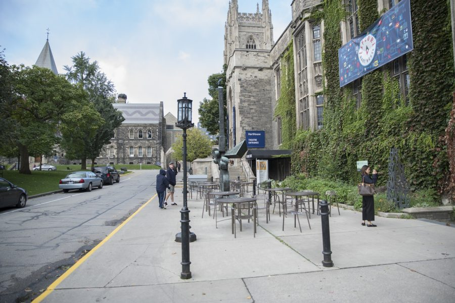 walkway outside of hart house