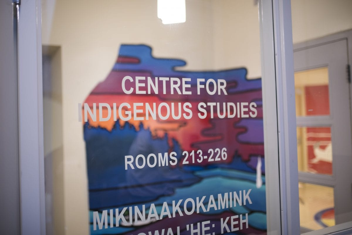 door sign for centre for indigenous studies